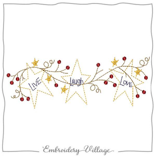 1002-stars-grapevine-applique-no fabric