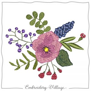 1027-wildflower-bunch-embroidery-village