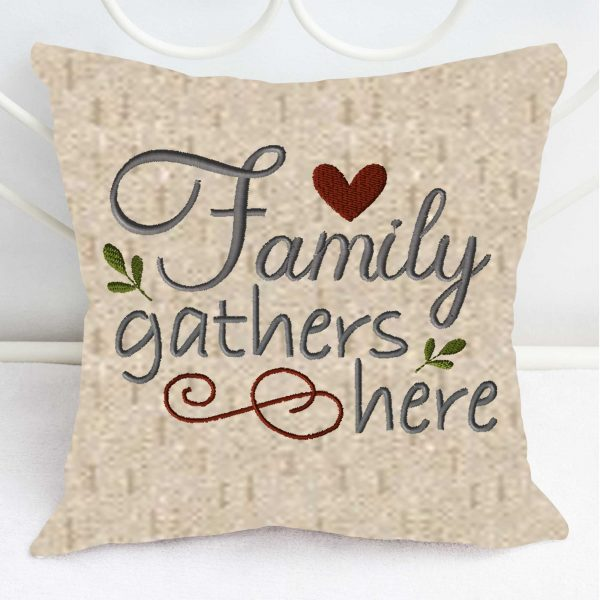 1102-family-gathers-here-embroidery village pillow