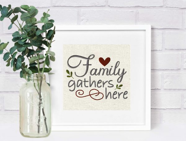1102-family-gathers-here-embroidery village-frame