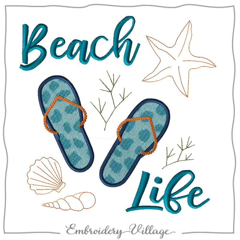 1118-beach-life-embroidery-village