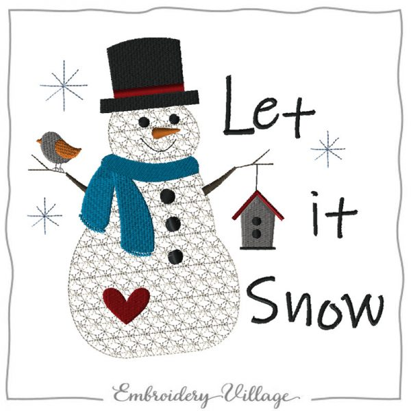 EV1146-snowman-birdhouse-embroidery-village