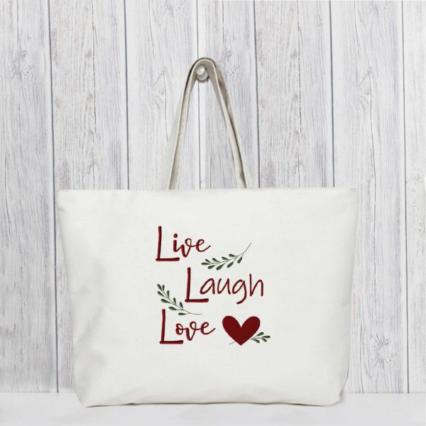 EV1104-live-laugh-love-embroideryvillage-tote