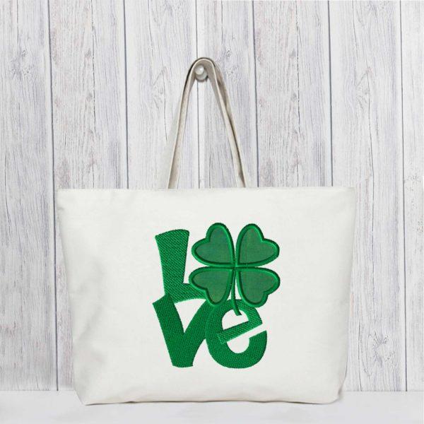 EV1123-shamrock-LOVE-applique-embroidery-village-tote