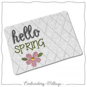 EV1167 hello spring mug rug