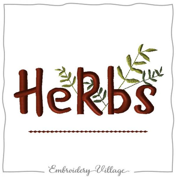 EV1170 herbs-embroidery village
